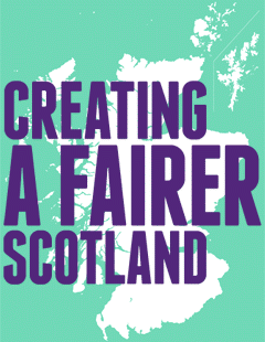 Creating a fairer Scotland logo