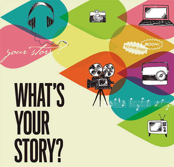 What's Your Story logo.