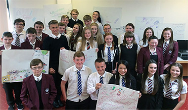 Participants in a Young Placemakers™ project in the Loch Lomond and the Trossachs National Park.