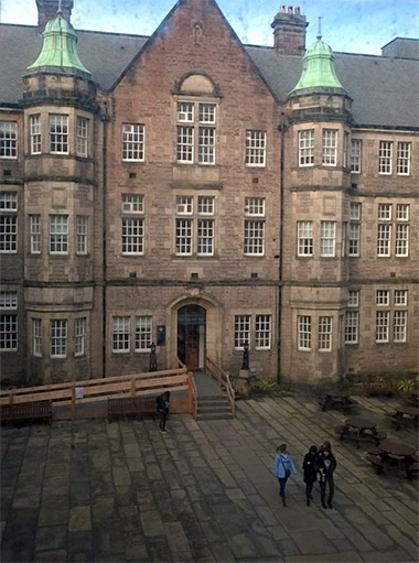 The view from the Moray House School of Education, Edinburgh.